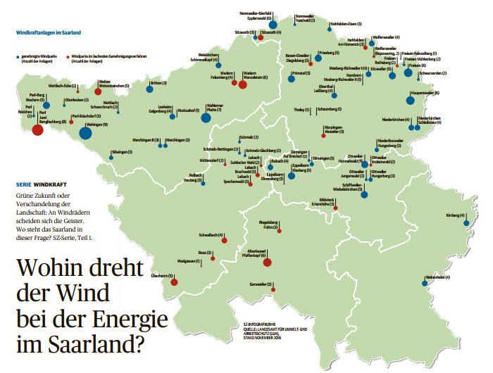 Windkraftanlagen saarland